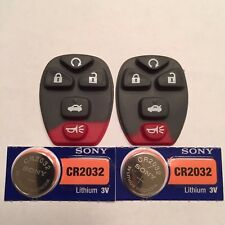 2 New 5 Button Keyless Remote Pads + CR2032 Batteries OUC60270/OUC60221 15912860