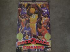 l.a lakers 2001 world champion poster