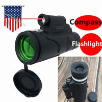 12X50 Compass Flashlight infrared Distance NightVision Monocular Telescope Laser