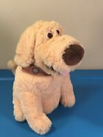 "Disney Parks Pixar Up Doug The Dog Dug Soft Stuffed Plush Animal 10"" Up! Movie"