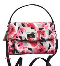 NWT Kate Spade Blake Avenue Miri Printed Rose Bed Bag Satchel Crossbody Pretty!