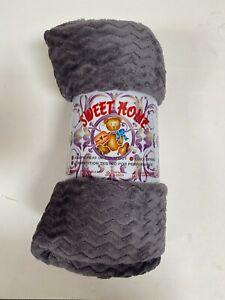 Gray Fuzzy Flannel Throw Blanket Lightweight Soft Microfiber Warm Plush Blanket