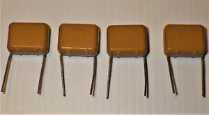 4x Vintage ITT  axial lead capacitor .33uF 250V  for valve amplifier