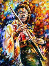 "Jimi Hendrix — Oil Painting On Canvas By Leonid Afremov. Size: 30""x40 Legend"