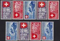 Svizzera - 1939 - Esposizione di Zurigo - serie completa - nuova MNH - n.320/328
