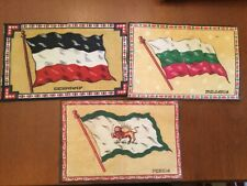 3 Antique Felt Tobacco Cigarette Cigar Premium Flags Germany, Bulgaria & Persia