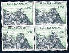 SAN MARINO 1958 586 gestempelt im VIERERBLOCK 280€(J9006