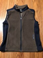 Mens ORAGE Brown Zip Up Soft Shell Vest  Jacket Medium Made In Canada