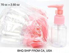 12PCS Empty Refillable Clear Plastic Travel Bottle Pump Bottle Dispenser