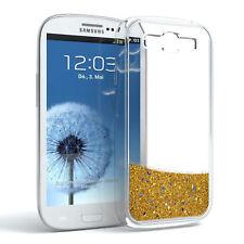 Schutz Hülle f. Samsung Galaxy S3 / Neo Liquid Glitzer Cover Handy Case Gold