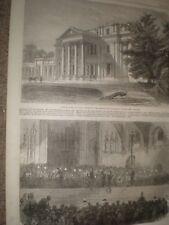 Oakley Park Suffolk & prizes for West London rifle volunteers 1866 prints ref C