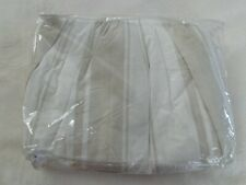 Rachel Ashwell Shabby Chic Couture Bed Skirt Dust Ruffle Full Taupe White New