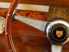 """Jaguar XJ12 1990  92 Wood Steering Wheel Fit Airbag Model Rivet Engraved 15"""" New"""