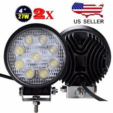2x 27W CREE 12V 24V LED Work Light Round Spot Lamp Truck SUV UTV ATV Offroad