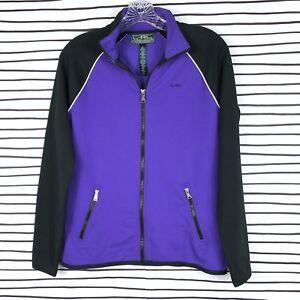 Ralph Lauren Active Jacket Top Full Zip Colorblock Purple Black Athletic Size S
