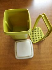 Vtg 3 Piece Tupperware Pickle Olive Keeper Avacodo Green Holder Container 1330-8