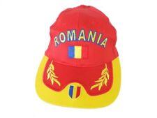 Cappello uomo 100% cotone modello Baseball turista taglia unica ROMANIA rosso