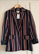 H&M Navy Red Stripe Nautical Jacket Blazer- Size 8
