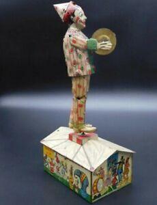 Strauss Tin Wind Up Dandy Jim Clown Roof Dancer