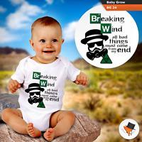 Breaking wind drôle Body Babygrow Funny Breaking Bad thème bébé pousse Gilet