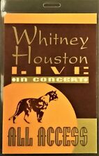 *** WHITNEY HOUSTON ***  LAMINATED BACKSTAGE PASS - LIVE IN CONCERT - ALL ACCESS