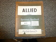 Allied Tractor 608D 708D Trac-Dozer Blade for TD9 Tractor Owner Operator Manual