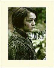 MAISIE WILLIAMS GAME OF THRONES ARYA STARK PP MOUNT 8X10 SIGNED AUTOGRAPH PHOTO