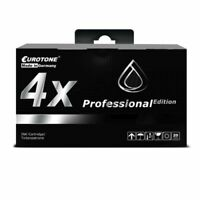 4x Eurotone Pro Ink Black For Epson Stylus Photo RX-500 RX-620 R-320 R-300-M