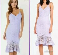 NEW❤️LIPSY❤️Size 10 Lilac Purple Scalloped Lace Flute Hem Dress WEDDING PARTY