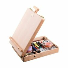 Wooden Easel Sketch Table Box Painting Art Supplies Accessory Storage For Artist