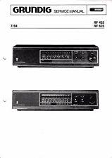 Service Manual-Anleitung für Grundig RF 425, RF 625