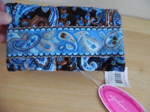 Stephanie Dawn Checkbook Cover in Mocha Paisley Pattern, 10012-001,  NEW w/Tag