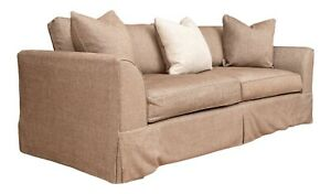 A High Quality Custom-Made Transitional 3-Seat Sofa W/ Designer Accent Pillows