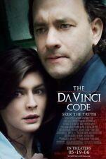 "DA VINCI CODE ""C"" 11.5x17 PROMO MOVIE POSTER - TOM HANKS"