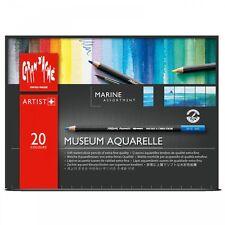Caran d'Ache Museum Aquarelle DOUX aquarelle marine couleurs Ensemble de 20