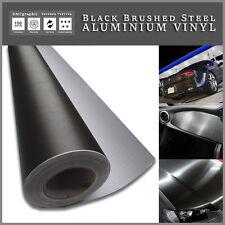 500x152cm Spazzola di metallo nero in alluminio Vinile Veicolo Wrap tinta interni esterni