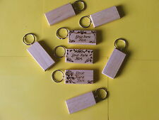 Personalised HARDWOOD Keyrings with design-POLISHED,HAND MADE £2.25each p&p free
