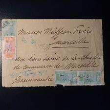 GUINÉE FRANÇAISE LETTRE RECOMMANDÉE COVER CAD CONAKRY 1921 POUR MARSEILLE