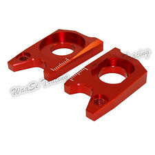 Rear Wheel Axle Blocks Kit Red Fit SUZUKI GSXR 600 750 06-10 GSXR1000 05-08 US