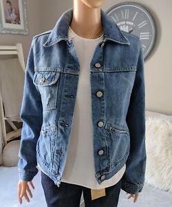 Fake London Genius M 8/10 Ladies Denim Jacket 90's Vintage EXCELLENT CONDITION