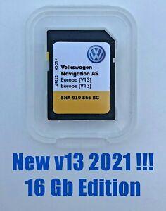 Tarjeta SD VW Discovery Media 2 · Mapas v13 Europa 2021 · 5NA 919 866 BG