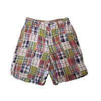 Mens Gap Madras Shorts Size 35 Zip Fly 4 Pocket Golf Cotton Plaid