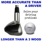 LEFT HAND #1 Driving One Iron Hybrid Wood Long Driver ANTI-SLICE STIFF GRAPHITE