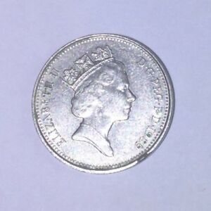 British Old Five Pence 5p Coin Circulated 1970-1989. 1989 used, good condition