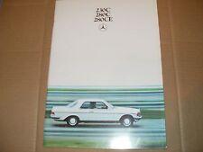 Mercedes Benz 230 C, 280 C, 280 CE Brochure - Dutch Brochure.