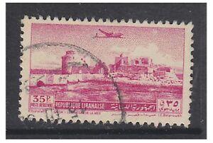 Lebanon - 1951, 35p Air - Sidon Castle stamp - Used - SG 442