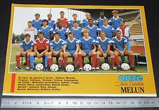 CLIPPING POSTER FOOTBALL 1987-1988 D2 ENTENTE MELUN FONTAINEBLEAU