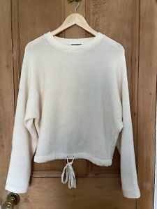 Jeager 100% Wool Cream Womens Jumper S