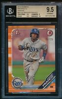 BGS 9.5 WANDER FRANCO 2019 Bowman Paper ORANGE PARALLEL #/25 Rookie RC GEM MINT