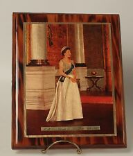 Portrait Queen Elizabeth II Jubilee 1977 Photo Plaque on foil